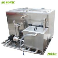 China The Crankshaft Industrial Ultrasonic Cleaner 28khz with Water Recycle SUS304 on sale