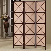 Quality Antique Hand-woven Home Decor Foldable Cloth Wooden Screen Lows Room Dividers wholesale