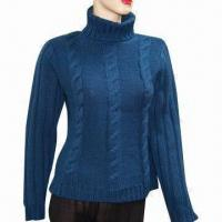 Quality Ladies sweater, made of 70% wool and 30% acrylic wholesale
