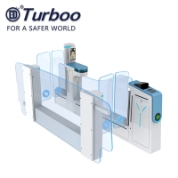 Quality 0.2 Seconds Railway Airport Train Station Turnstile With Double Identification wholesale