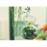 Quality Romantic Hanging Crystal Glass Cylinder Candle Holder Home Favor Blown wholesale