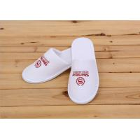 Quality Logo Printed White Color Disposable Hotel Slippers For Womens / Mens / Kids wholesale