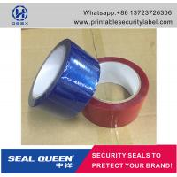 Quality Customized Promotion PET Tamper Security Seal Tape For Carton Sealing wholesale