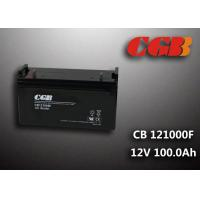 Quality CB121000F 12V 100Ah Valve Regulated Lead Acid Battery , Wind Supply Energy Storage AGM Battery wholesale