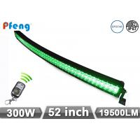 Quality 52 Inch 300W Green Color Curved Led Light Bar For Truck / Offroad wholesale