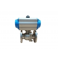 China SS316 50A Full Port Pneumatic Actuated Ball Valve on sale