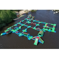 Quality 2020 New Outdoor Water Park  Inflatable / Floating Water Obstacle Course Manufacturer wholesale