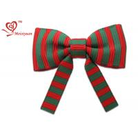Quality Striped Grosgrain ribbon christmas wrapping bows Vivid color Printing wholesale