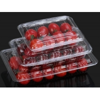 China BOPS packaging boxes disposable transparent for Sushi and cake fruit snacks on sale