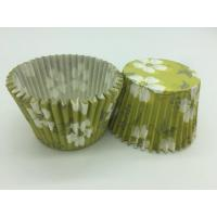 Quality Green White Flower Greaseproof Cupcake Liners Disposable Mini Baking Tools Cake Decoration wholesale