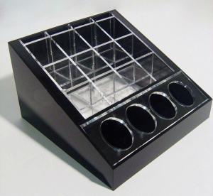 Quality Black Cosmetic Display Desktop Cosmetic Display Holders 15cm X 15cm wholesale
