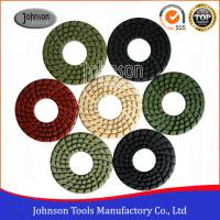 Quality Good Flexibility 4 Inch Diamond Stone Polishing Pads With Big Center Hole wholesale