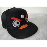 Quality Flat Brim Strap Back Embroidery Hip Hop Cap Acrylic For Kids wholesale
