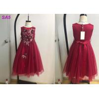 Quality Beautiful Lace Childrens Flower Girl Dresses For Birthday Party Full Length O Neck wholesale