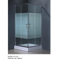 Quality 6m door thickness Corner Shower Enclosures square shower stall stripe glass wholesale