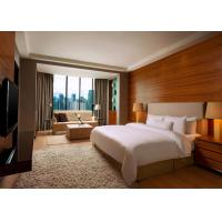 Quality 5 Star Hotel Bedroom Furniture King Size Wooden Material OEM Service wholesale