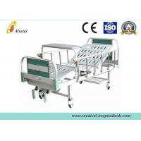 China CE Approved Manual 2 Crank Medical Hospital Beds With Covered Castors (ALS-M223) on sale