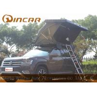 Quality Black Hard Shell Roof Top Tent Hardtop / Vehicle Pop Up Tents With One Side Open wholesale