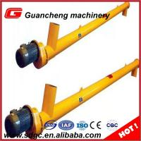 Quality 35 t/H Shaftless Cement Screw Auger Conveyor Yellow 219mm Conveyor LSY219 wholesale
