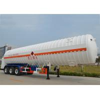 Quality Stainless Steel 304 LNG Tank Truck Trailer 3 Axles with 55000L High Vacuum wholesale