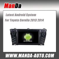 China Android 4.4 car radio for Toyota Corolla 2013 2014 wifi 3g indash head unit car audio player gps navigation auto parts on sale