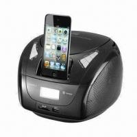 China CD Boombox with Dock for iPhone, CE, RoHS and MFI Certifications on sale