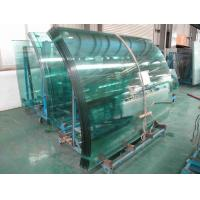 Quality Low Emissivity curved tempered safety glass buildings with flat edge wholesale