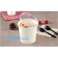 White paper cup for ice cream/ disposable custom printed paper soup bowl,Kraft
