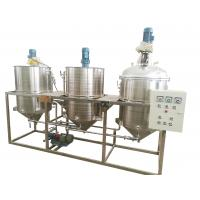 Quality Three Tanks Oil Refinery Equipment , Palm Oil Refining Machine High Performance wholesale