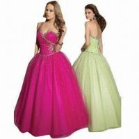 Quality Organza Beaded Sweetheart Quinceanera Evening Dresses, Brand New, One-shoulder wholesale