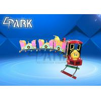 Cheap 24V Amusement Park Music Kiddy Ride Machine / Train Ride On Track for sale