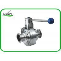Cheap High Sanitary Ball Valves , Stainless Steel Butterfly Valve For Beverage for sale