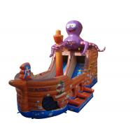 China Octopus Pirate Ship Large Inflatable Slide For Adult Amusement Park on sale