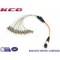 Buy cheap OM1 62.5 OM2 50/125 MPO To 12 ST Fiber Optic Breakout Cable Multimode Long from wholesalers