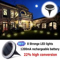 Buy cheap 8leds IP65 waterproof solar power garden decorative lights /solar ground light from wholesalers