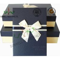 Quality Recycled Multi Colored Retails Handcrafted Gift Boxes Ribbon Bow Decorated Packaging wholesale