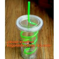 China Colorful neon flexible disposable plastic drinking straw,Colorful Cocktail Paper Plastic Drinking Straw bagplastics pac on sale