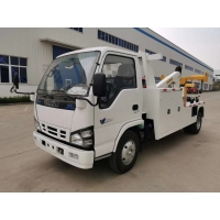 China ISUZU 5 Tons Light Wrecker Tow Truck For City Road Rescue with Manual Gearbox High Operation Efficiency on sale