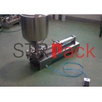 Quality Single head Semi automatic Piston Filling Machine for Liquid Syrup 5 - 20 Bottles / min wholesale