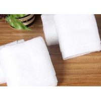 Quality Bulk Customized Hotel Face Towel White 100% Organic Cotton With Logo wholesale