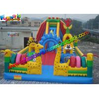 Quality PVC tarpaulin Inflatable Amusement Park Customized , Jumping Castles For kids wholesale