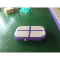 China Professional Air Jumping Track Purple Inflatable Air Board Air Block For Gymnastics on sale