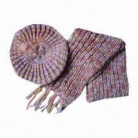 China Berets, Hand-knitted Scarves, Suitable for Women on sale