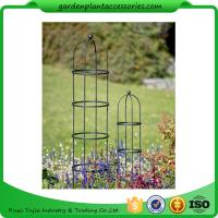"Quality Tall Round Decorative Garden Plant Trellis Matte Black Color For Climbing Plant 5' Trellis is 9-3/4"" in diameter x 5' H wholesale"