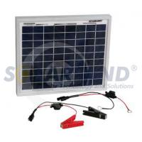 Quality Eco - friendly  12V 10W DC Portable Solar Battery Chargers Kits with Cells wholesale