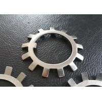 Quality SS304 SS316 MS Steel Lock Washer With External Teeth Serrated , Natural Color wholesale