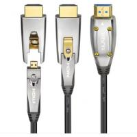 Quality Black HDMI AOC Cable Fiber Optical Hdmi To Hdmi Cable 10m 20m 50m Extender Support 4K 3D 18Gbps wholesale