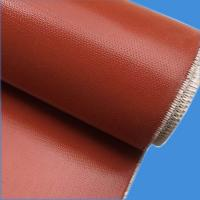 Quality Silicone coated fiberglass fabric, color red or gray, high quality, 250 g/m2, one side of coating wholesale