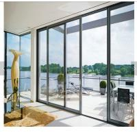 China 80x35 flat surface sliding screen door energy efficient door glass panel doors aluminum sliding door on sale