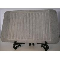 Quality 32x25cm Stone Grill Plates , Rectangular Stone Cooking Plate With Groove wholesale